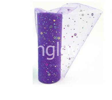Фатин фиолетовый в цветочек