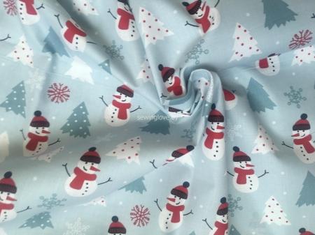 Ткань снеговики