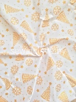 Ткань золотые елочки