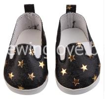 Туфли звездочка черные 6 см