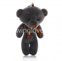 Мишка 11 см серый