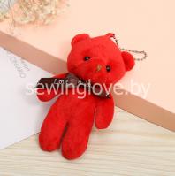 Мишка 11 см красный