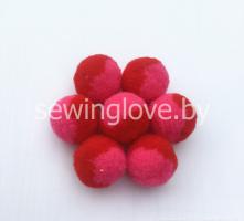 Помпон красно-розовый