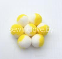 Помпон бело-желтый
