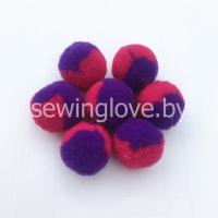 Помпон фиолетово-малиновый