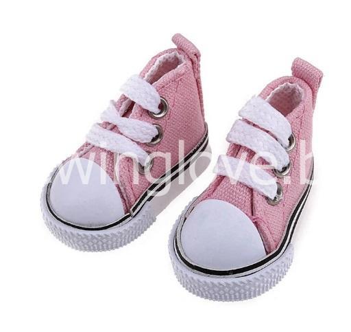 Кедики розовые на шнурках 5см