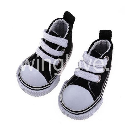 Кедики черные на шнурках 5см