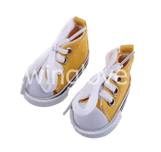 Кедики желтые на шнурках 5см