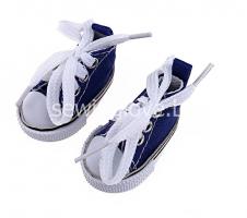 Кедики темно-синие  на шнурках 5см