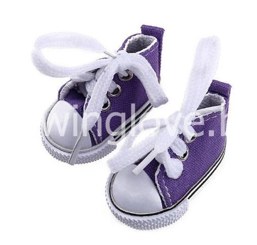Кедики фиолетовые  на шнурках 5см
