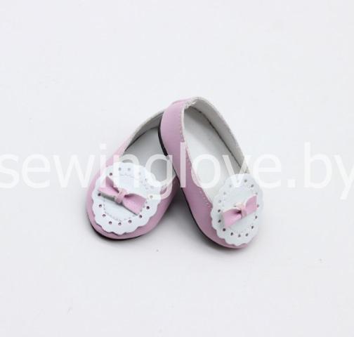 Туфельки кружевные нежно розовые 6,5 см