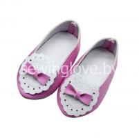 Туфельки кружевные розовые 6,5см