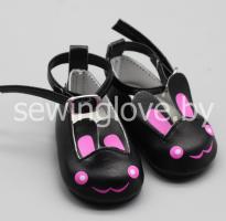 Туфельки зайки черные