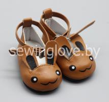 Туфельки зайки коричневые