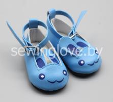 Туфельки зайки голубые