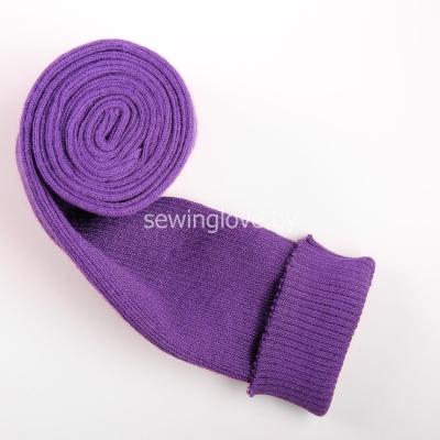 Трикотаж вязаный круговой фиолетовый