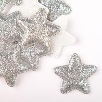 Патч звезда серебряная  5 см