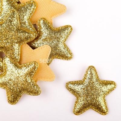 Патч звезда золотая  5 см