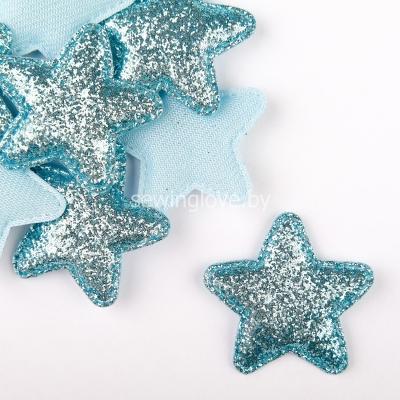 Патч звезда  голубая  5 см