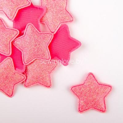 Патч звездочка розовая  3,5 см