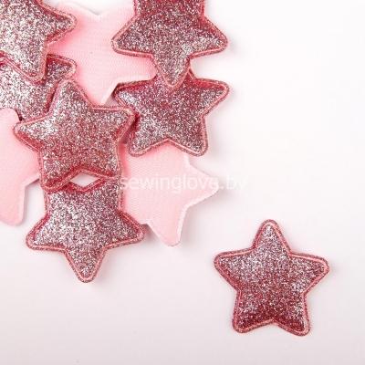 Патч звездочка ярко розовая  3,5 см