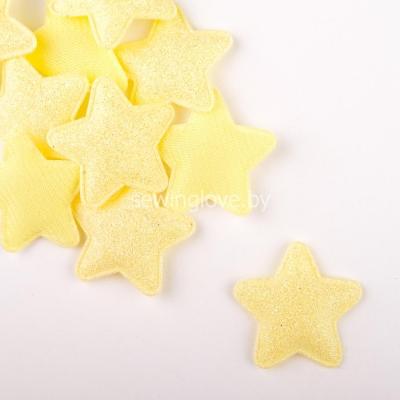 Патч звездочка желтая  3,5 см