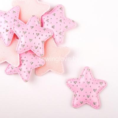 Патч звездочка розовая 5см