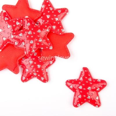 Патч звездочка красная 5см