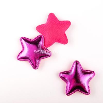 Патч звездочка ярко-розовая глянец 5см