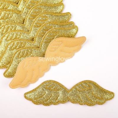 Патч крылышки золотые  9 см