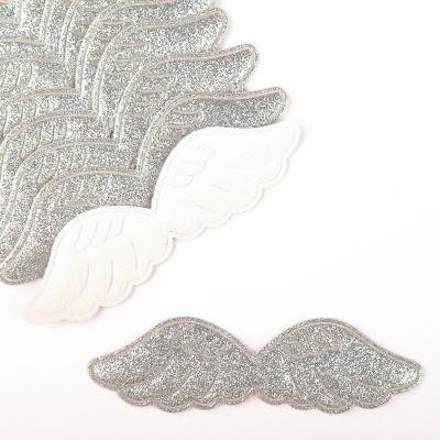 Патч крылышки серебреные  9 см