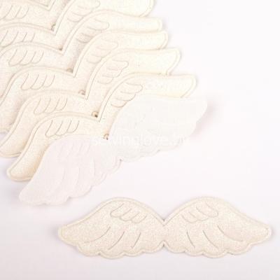 Патч крылышки снежные  9 см
