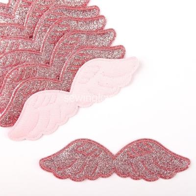 Патч крылышки розовые  9 см