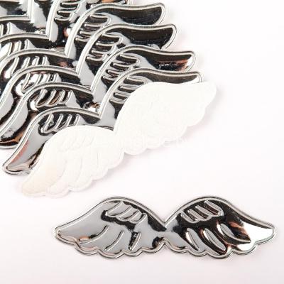 Патч крылышки серебреные глянец 10,5 см