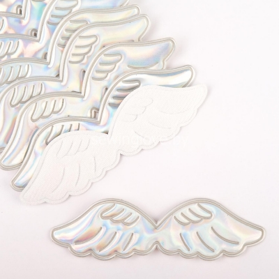 Патч крылышки голография глянец 10,5 см