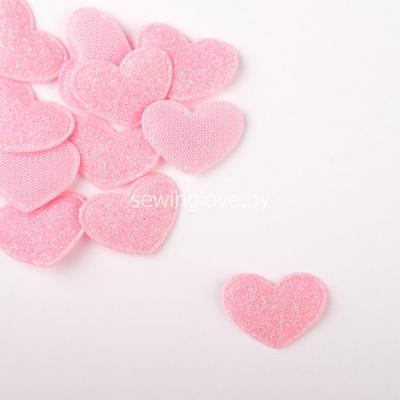 Патч сердце нежно розовое 2,5 см