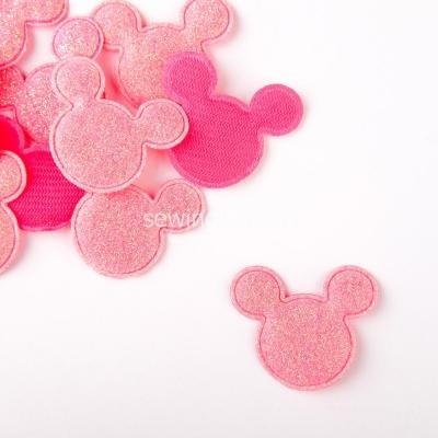 Патч Микки Маус ярко розовый