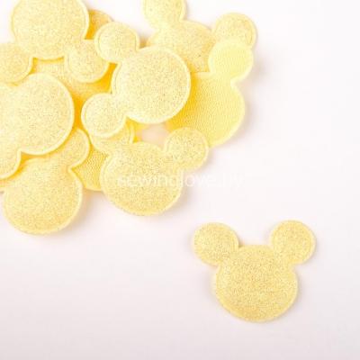 Патч Микки Маус жёлтый