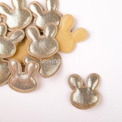 Патч зайцы светлое золото