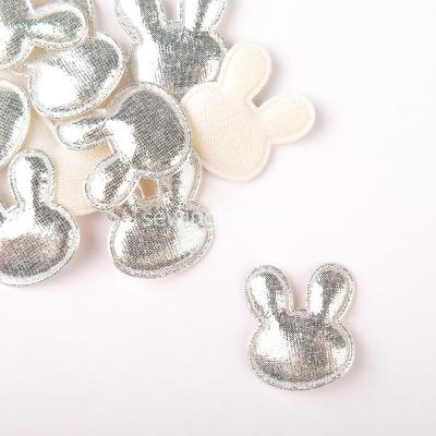 Патч зайцы серебро