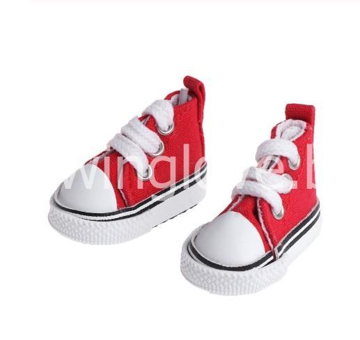 Кедики красные на шнурках 5см