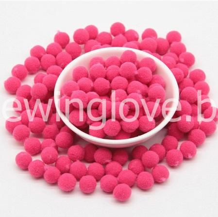 Помпон плюшевый мини розовые