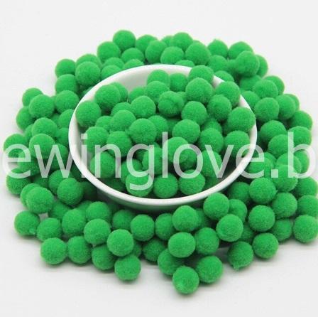 Помпон плюшевый мини зеленый