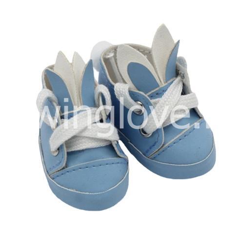 Кеды зайка голубые 5,5 см