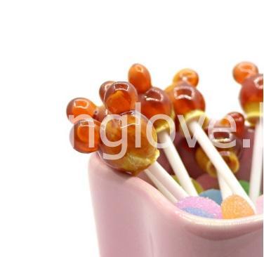 Леденец на палочке клубника со сливками (розовый)