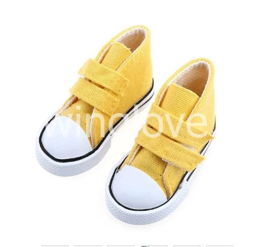Кеды желтые на липучках