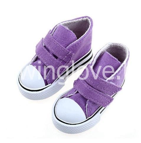 Кеды фиолетовые на липучках