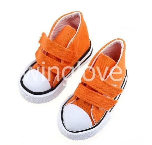 Кеды оранжевые на липучках