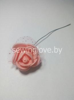 Розочка с фатином розовые
