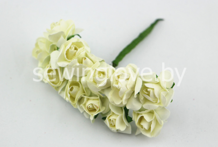 Розы бумажные шампань